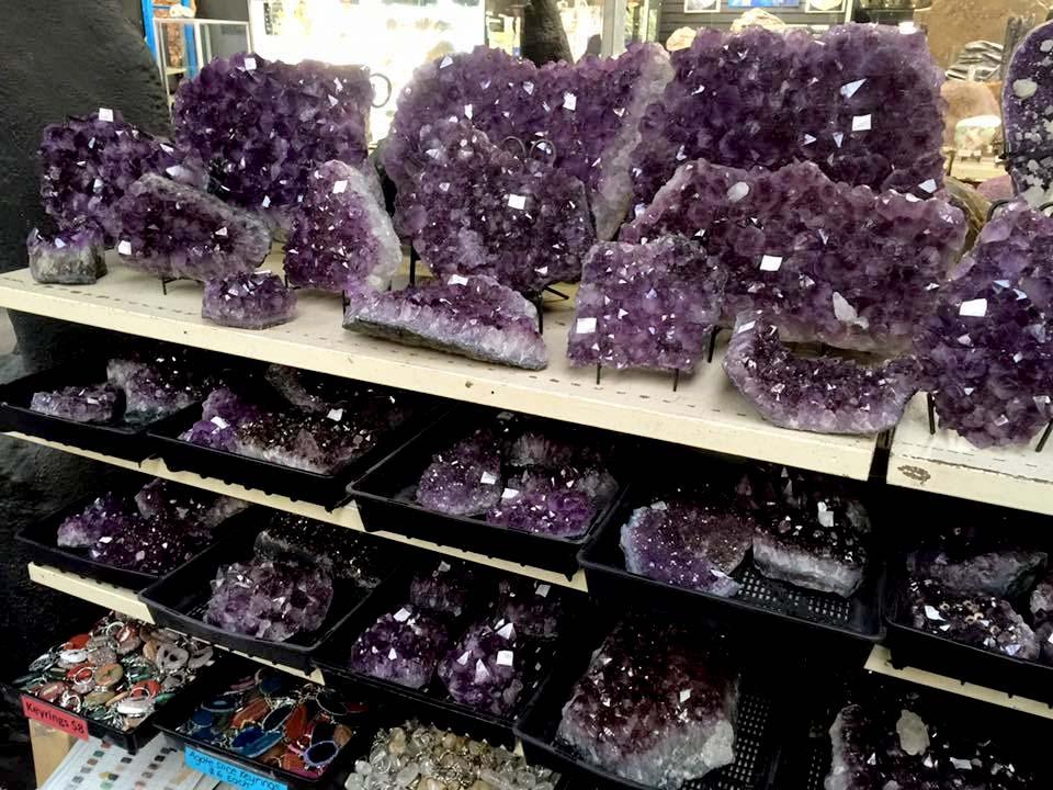 Crystal clusters amethyst