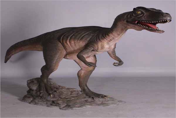 Allosaurus with mouth open